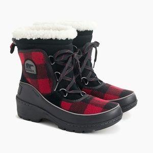 J.Crew X Sorel Tivoli III Boots Buffalo Check